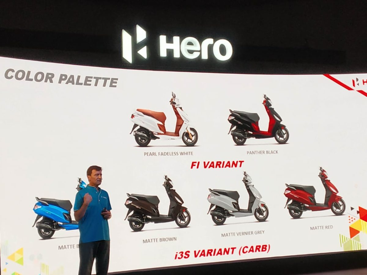 Hero Maestro Edge 125 colours