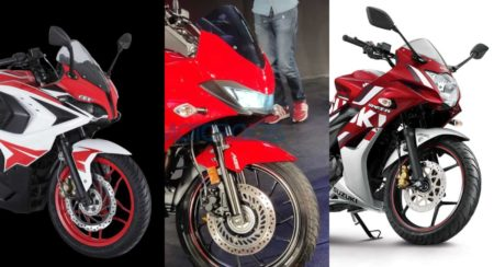 Hero Xtreme 200 S vs Suzuki Gixxer SF vs Bajaj Pulsar RS200
