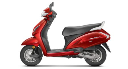 Honda Activa 5G side red