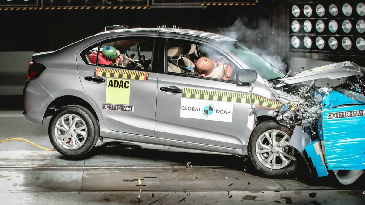 Honda Amaze scores 4 stars Gobal NCAP safety ratings