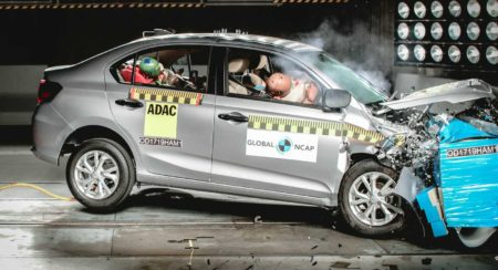 Honda Amaze scores 4-stars Gobal NCAP safety ratings