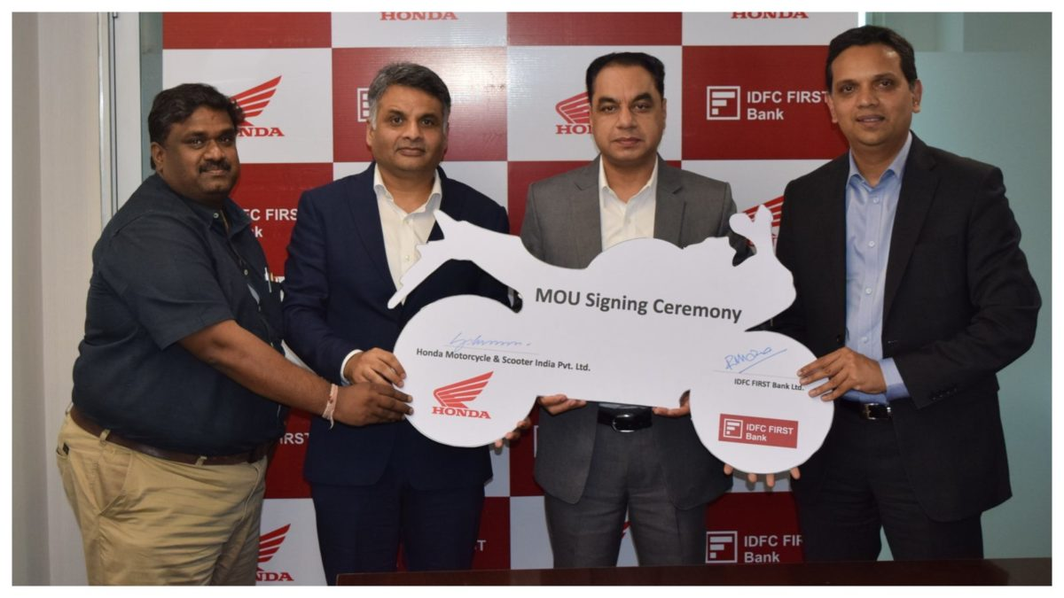 Honda signs Memorandum of Understanding (MoU) with IDFC First Bank Ltd.[336]