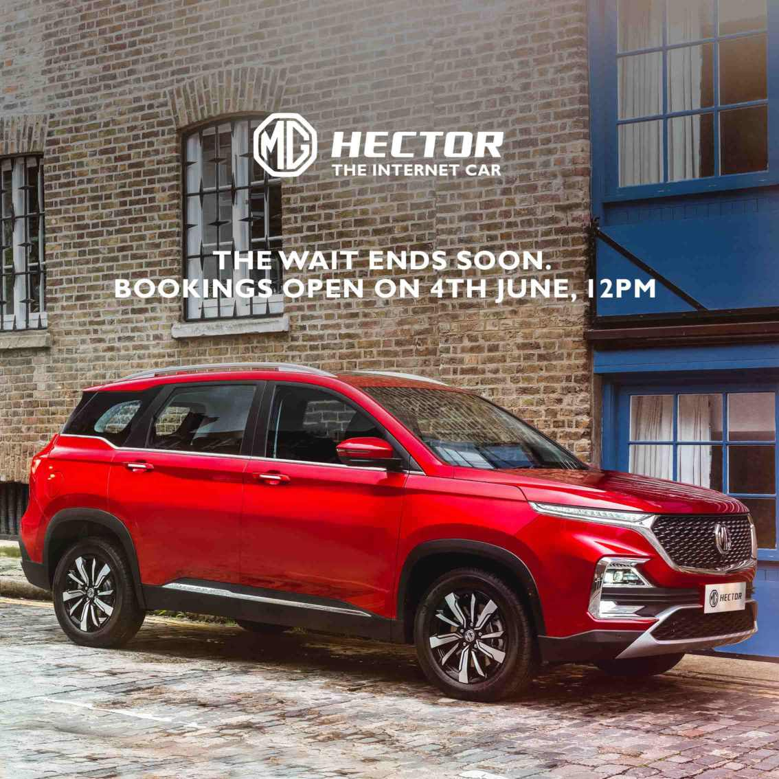 MG Hector Bookings Opens on 4 June