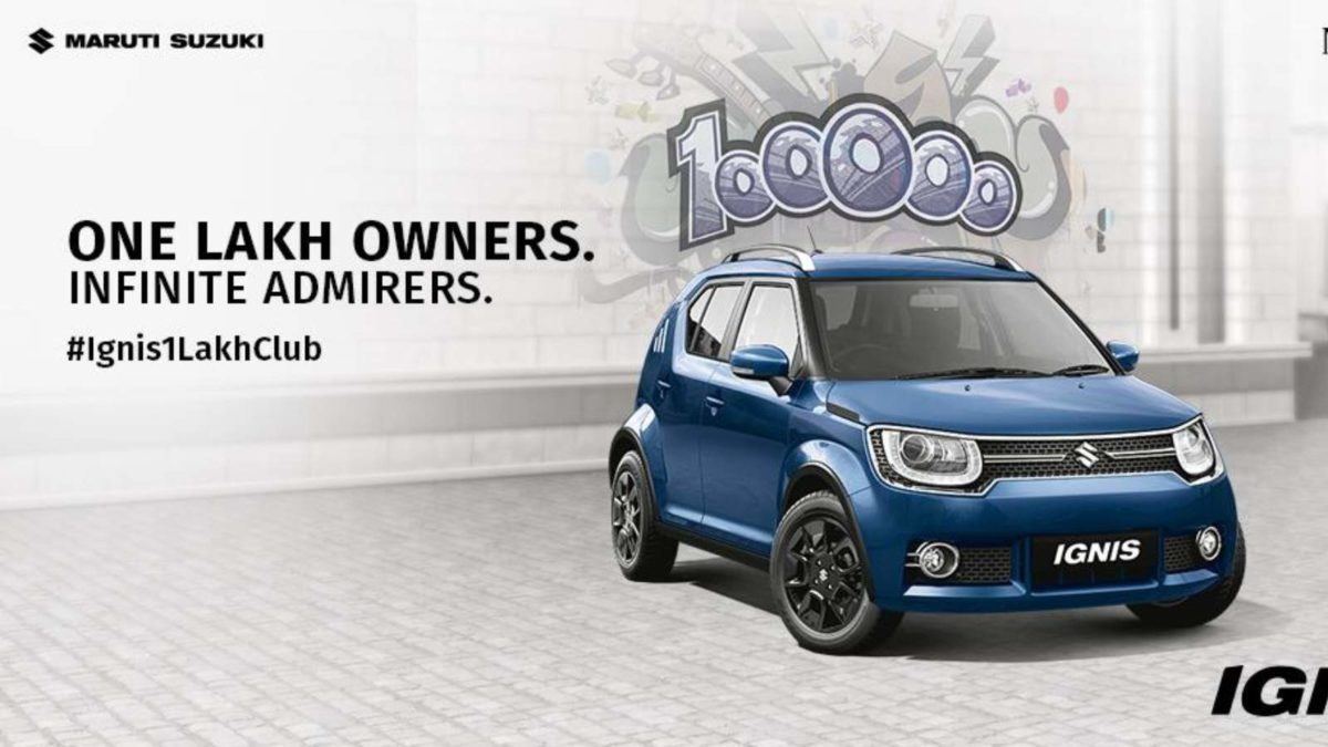 Maruti Suzuki Ignis enters one lakh club