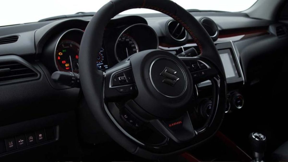 Maruti Swift Katana interior steering wheel