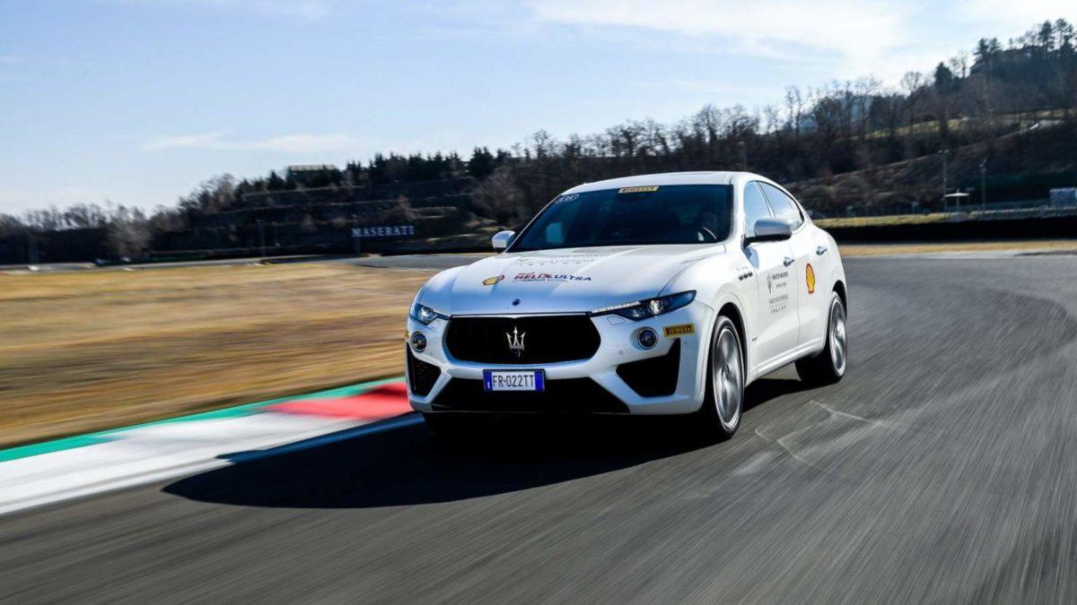 Maserati Levante on track