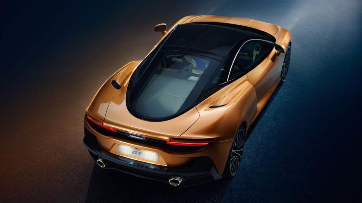 McLaren GT exterior top rear quarter