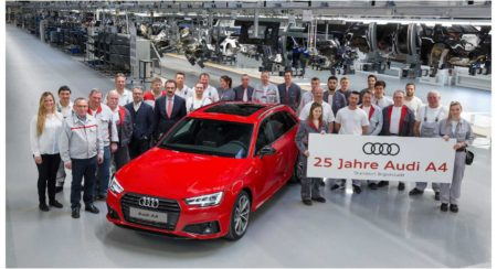 Pic_Audi A4 celebrates its 25th birthday