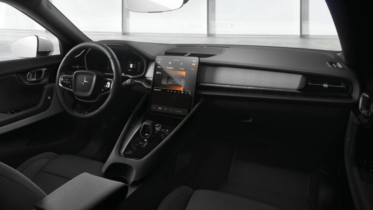 Polestar 2 interior dashboard