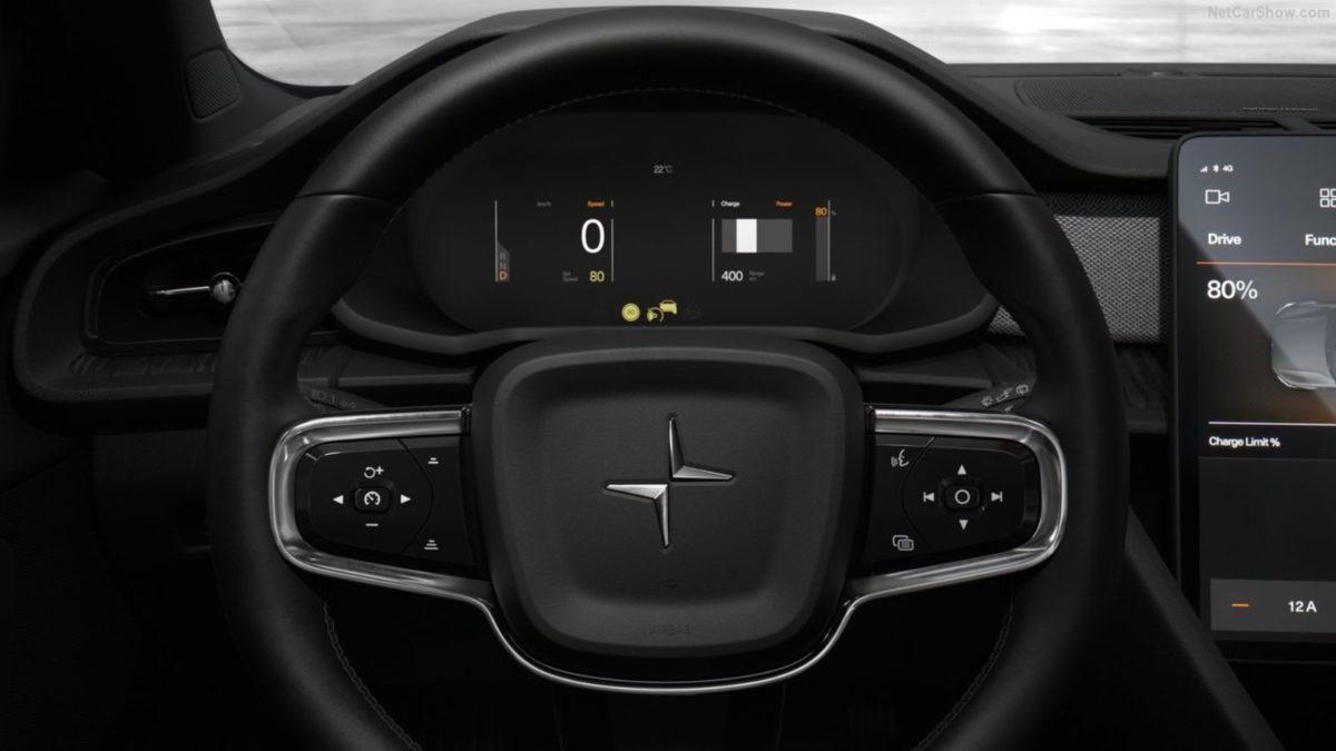 Polestar 2 interior instrument console