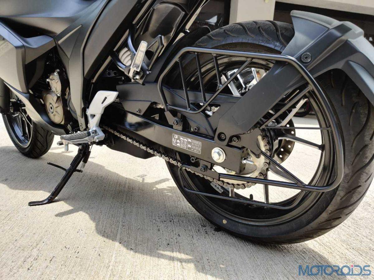 Suzuki Gixxer SF 250 First Ride Review Rear Tyre