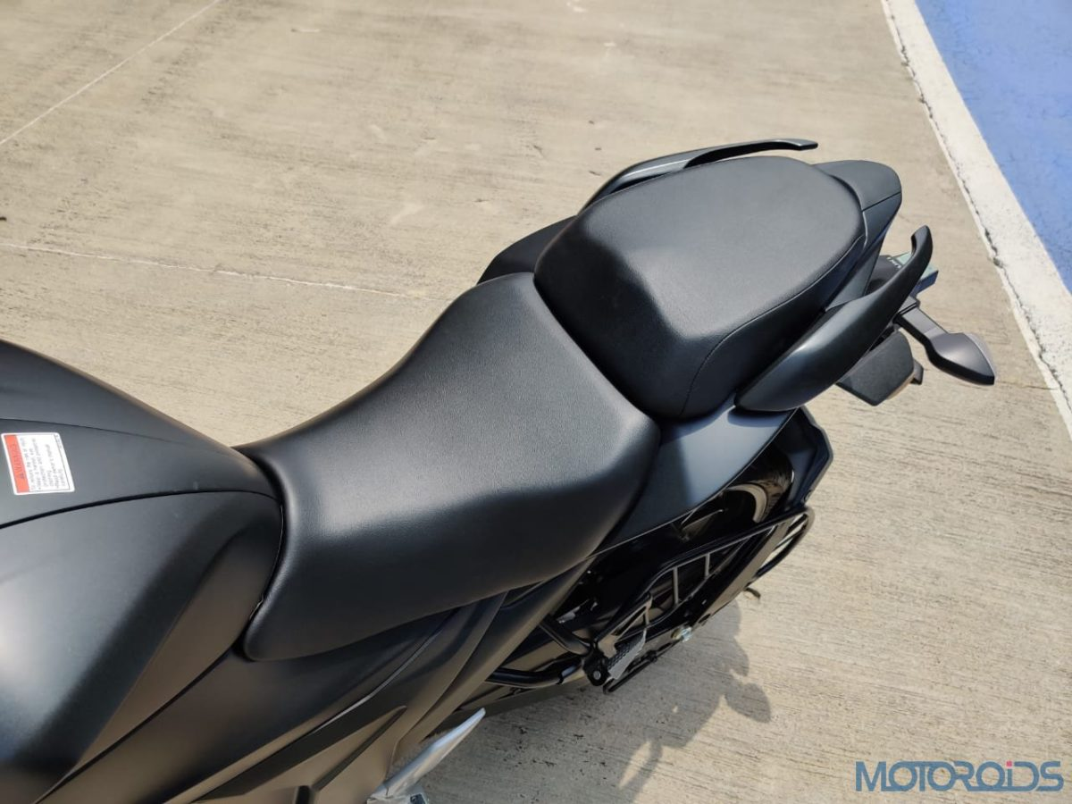 Suzuki Gixxer SF 250 First Ride Review Split seat