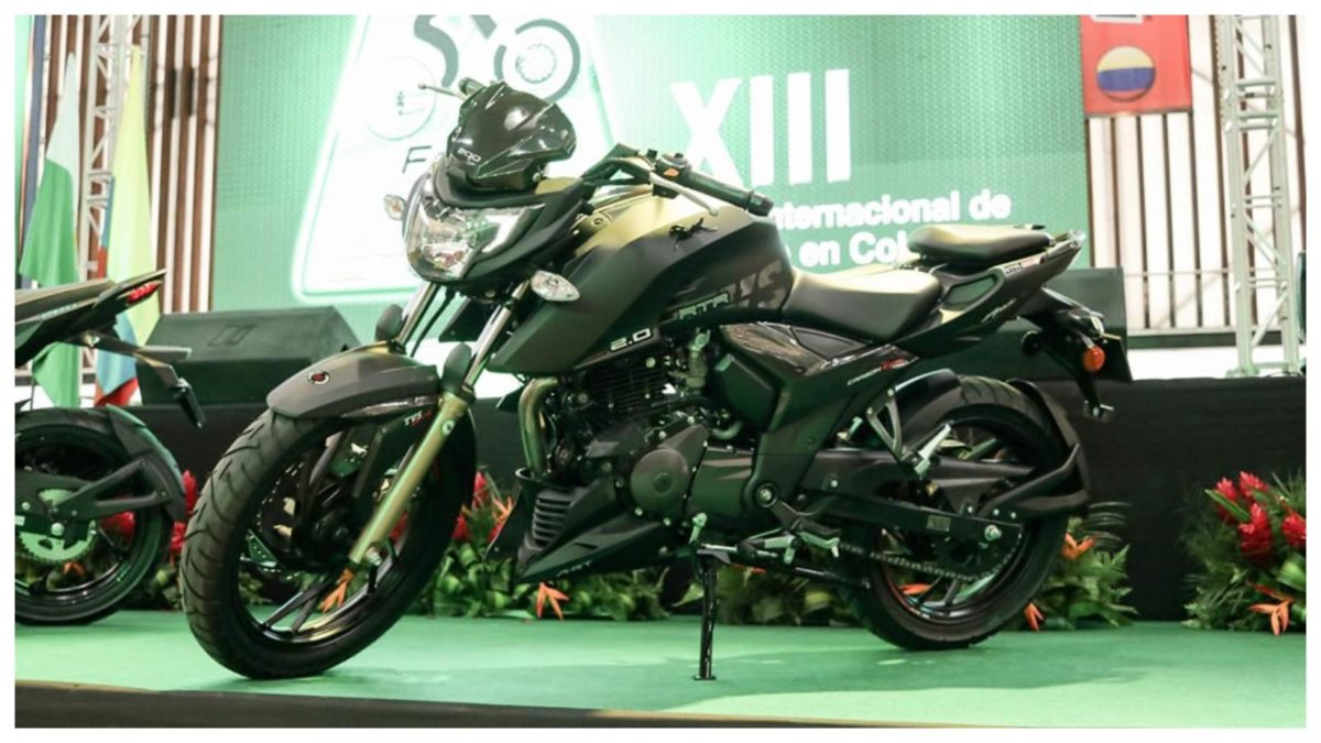 TVS Apache RTR 200 4V Colombia launch