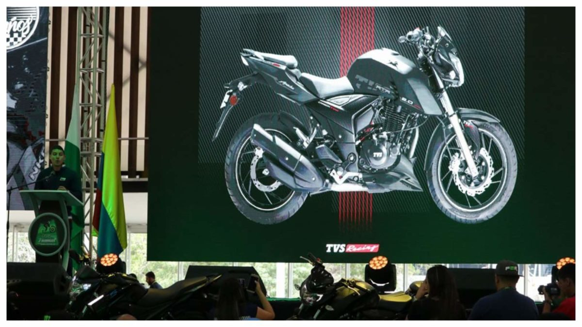 TVS Apache RTR 200 4V Colombia launch Carbon Black