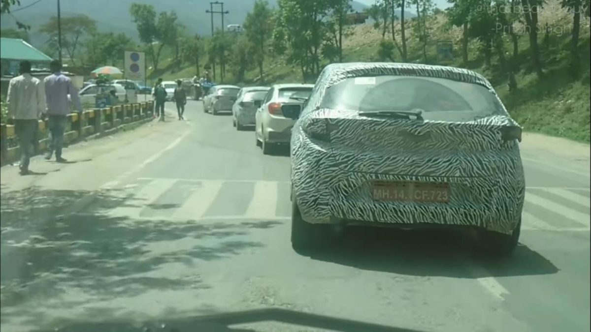 Tata Altroz spied in Himachal convoy of four
