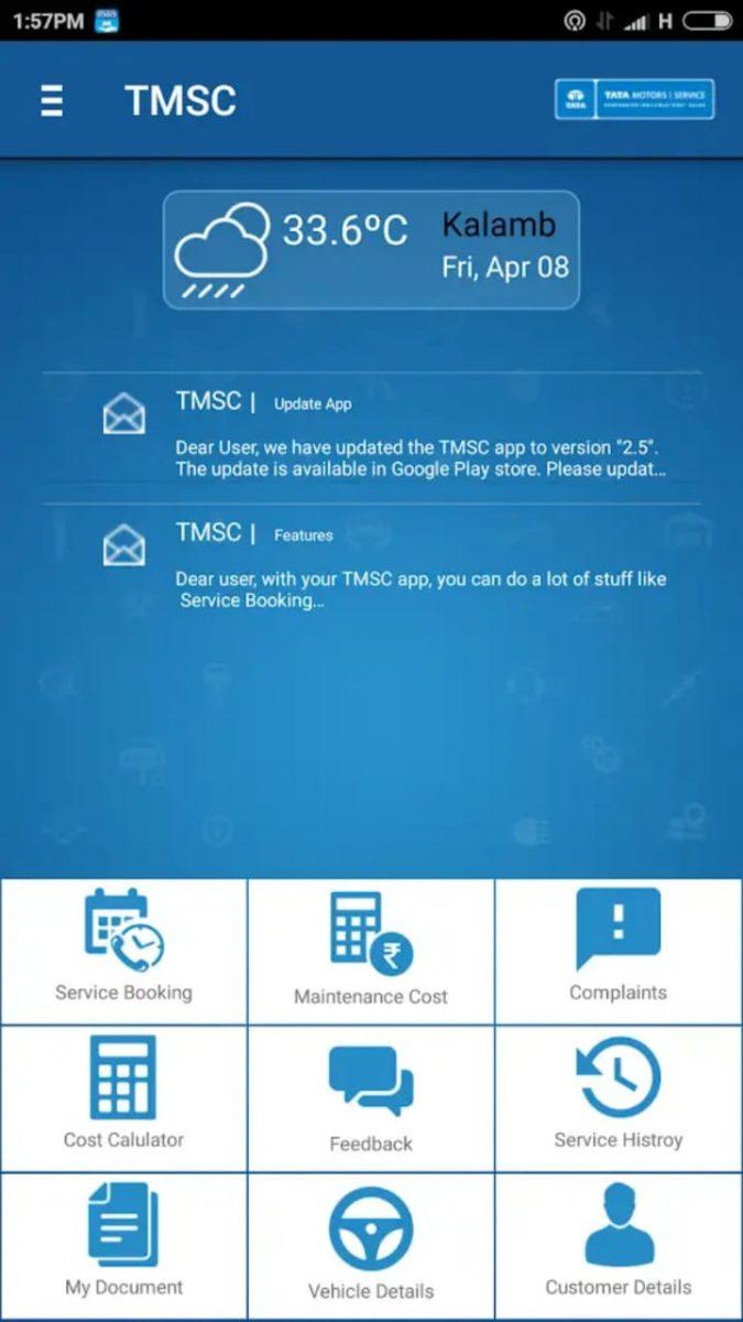 Tata Motors Service App TMSC