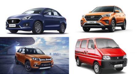 Top selling cars April 2019