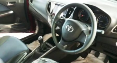 Toyota Glanza interior dashboard