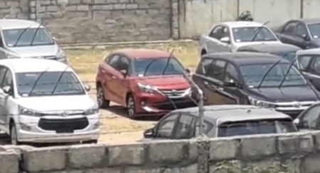 Toyota Glanza red colour