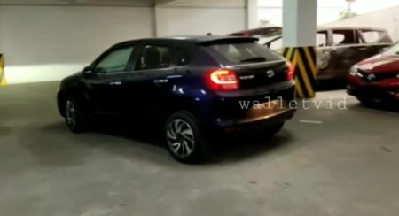 Toyta Glanza spied Blue rear side quarter