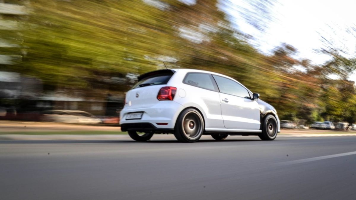 VW GTI stage 2 tuned rear quarter rolling