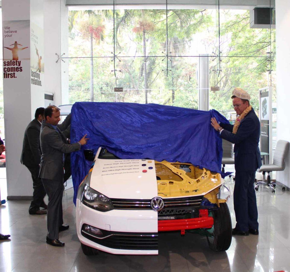 Volkswagen opens third CBC in Bengaluru Half cut car