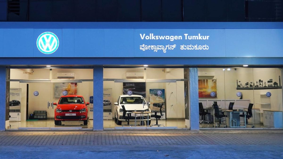 Volkswagen pop store Tumkur entrance
