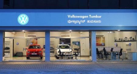 Volkswagen pop store Tumkur entrance