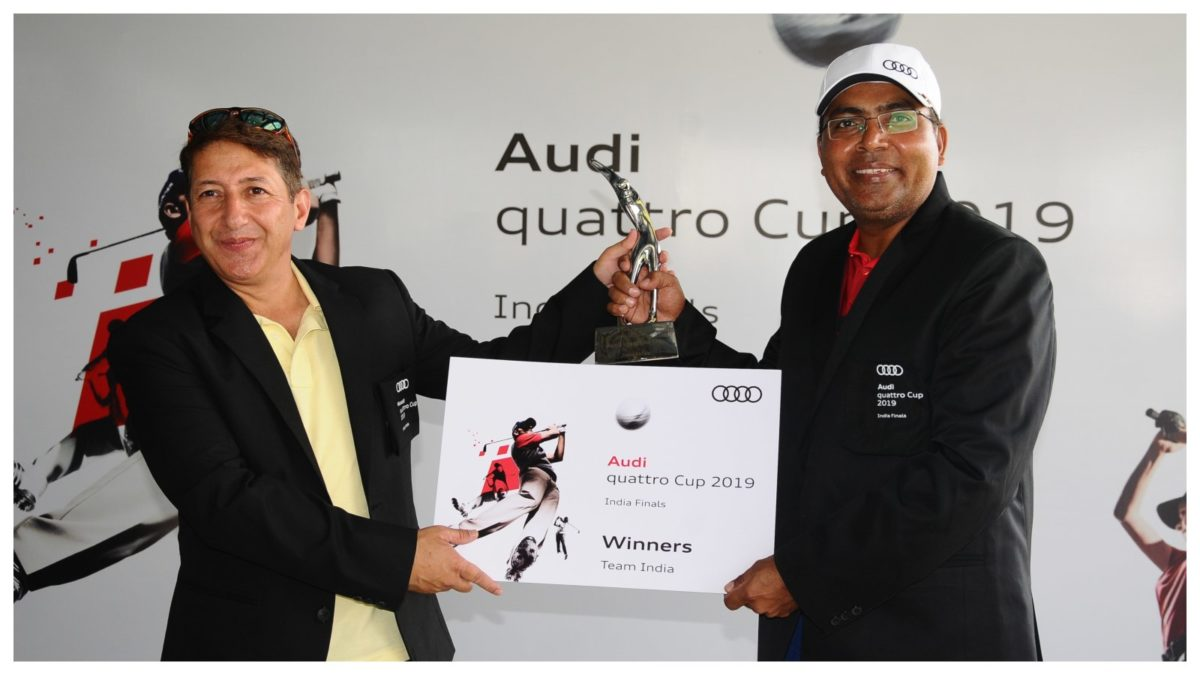 Winners of the India leg of Audi quattro Cup 2019 finals – Dr. Kaushal Anand and Sumit Pant representing Team Ahmedabad