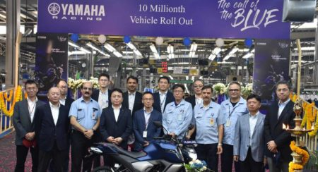 Yamaha 10 millionth vehicle roll out in India
