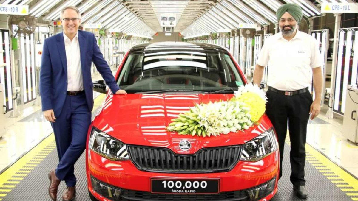 1,00,000th Skoda Rapid rolled out