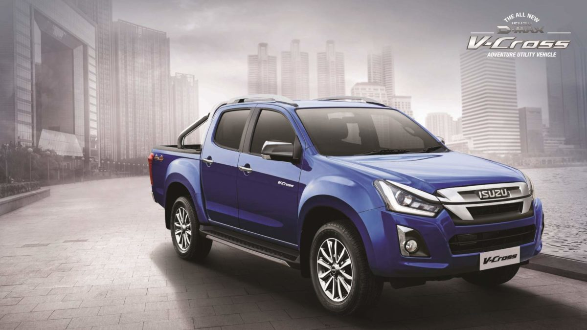 2019 Isuzu D Max V Cross front quarter