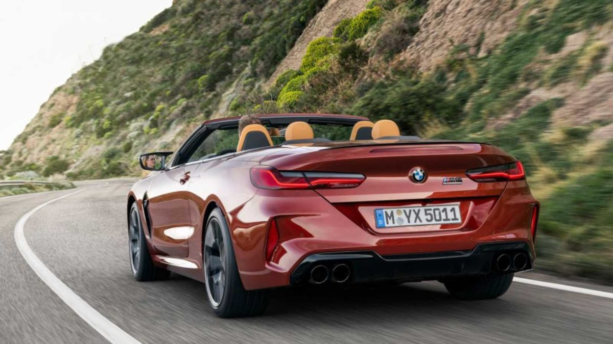 BMW M8 cabriolet rear quarter