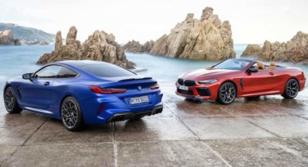 BMW M8 rear M8 cabriolet front