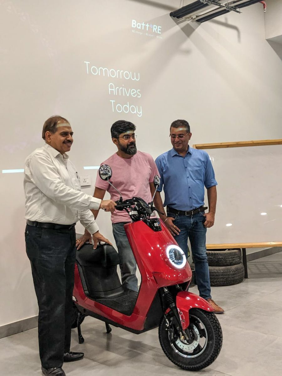 BattRE launches E Scooter with BattRE officials