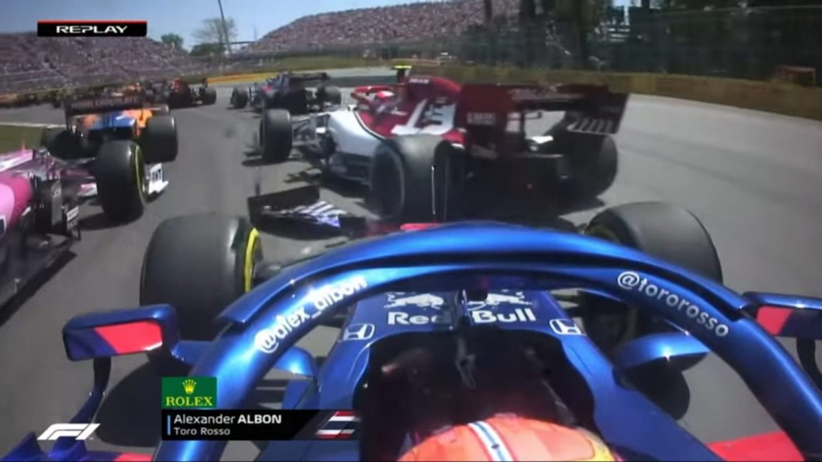 Canadian GP 2019 Alex Albon crash