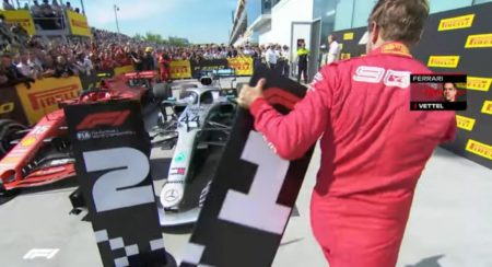 Canadian GP 2019 Vettel replaces the position planks