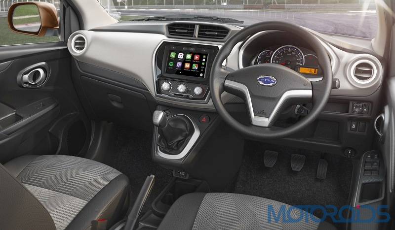 Datsun GO+ with VDC to provide enhanced safety and superior drivability – Interior shot