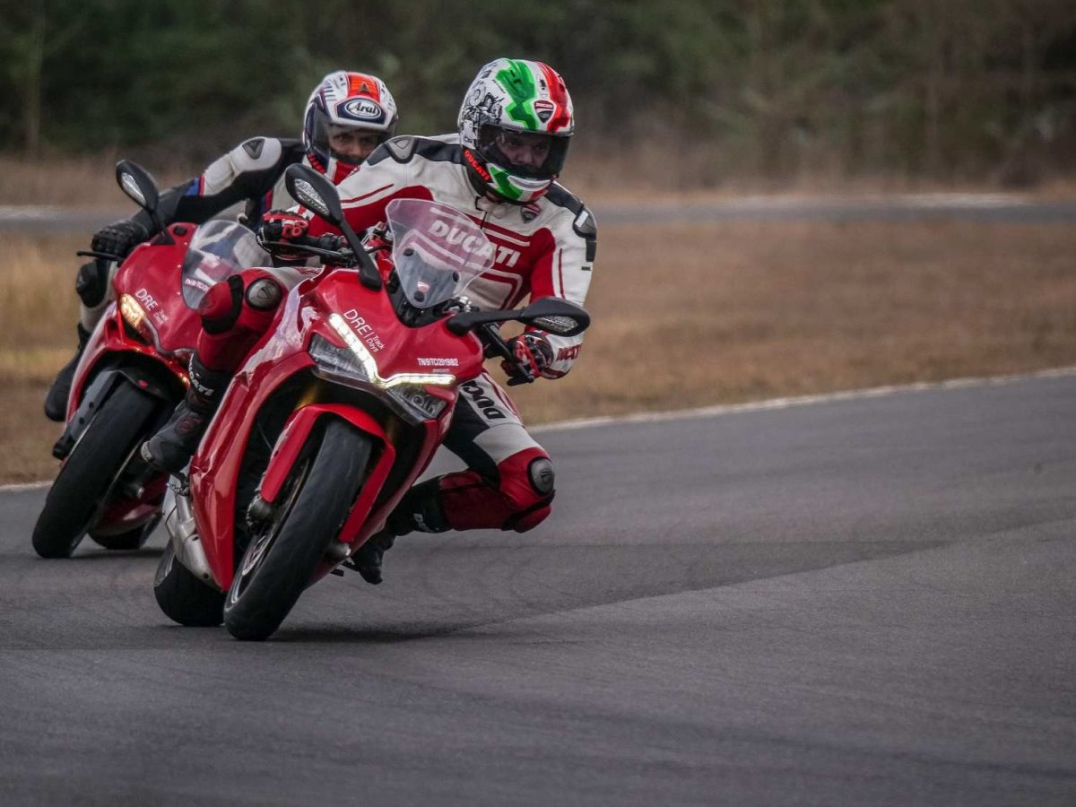 Ducati Race track Training Chennai on track