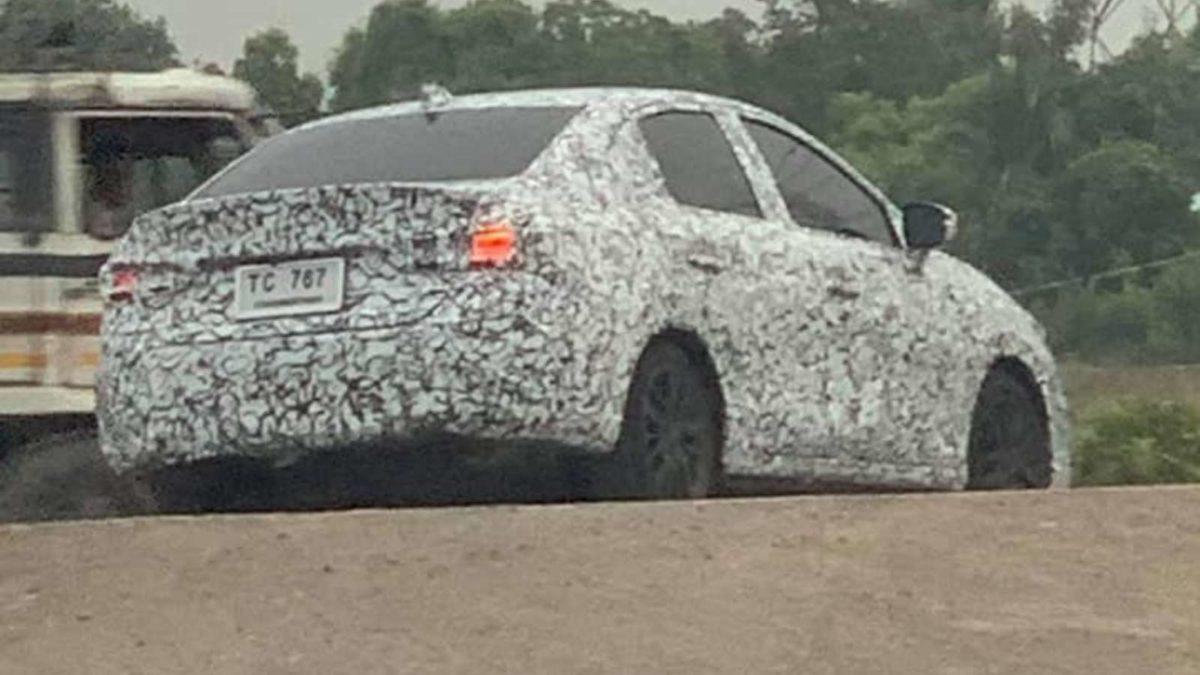 Fifth Generation Honda City Spied rear