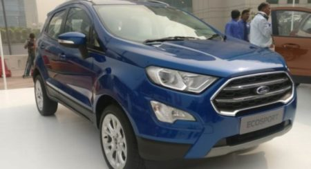 Ford Ecosport facelift front quarter featured