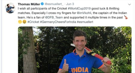 Germany cheers for india 1