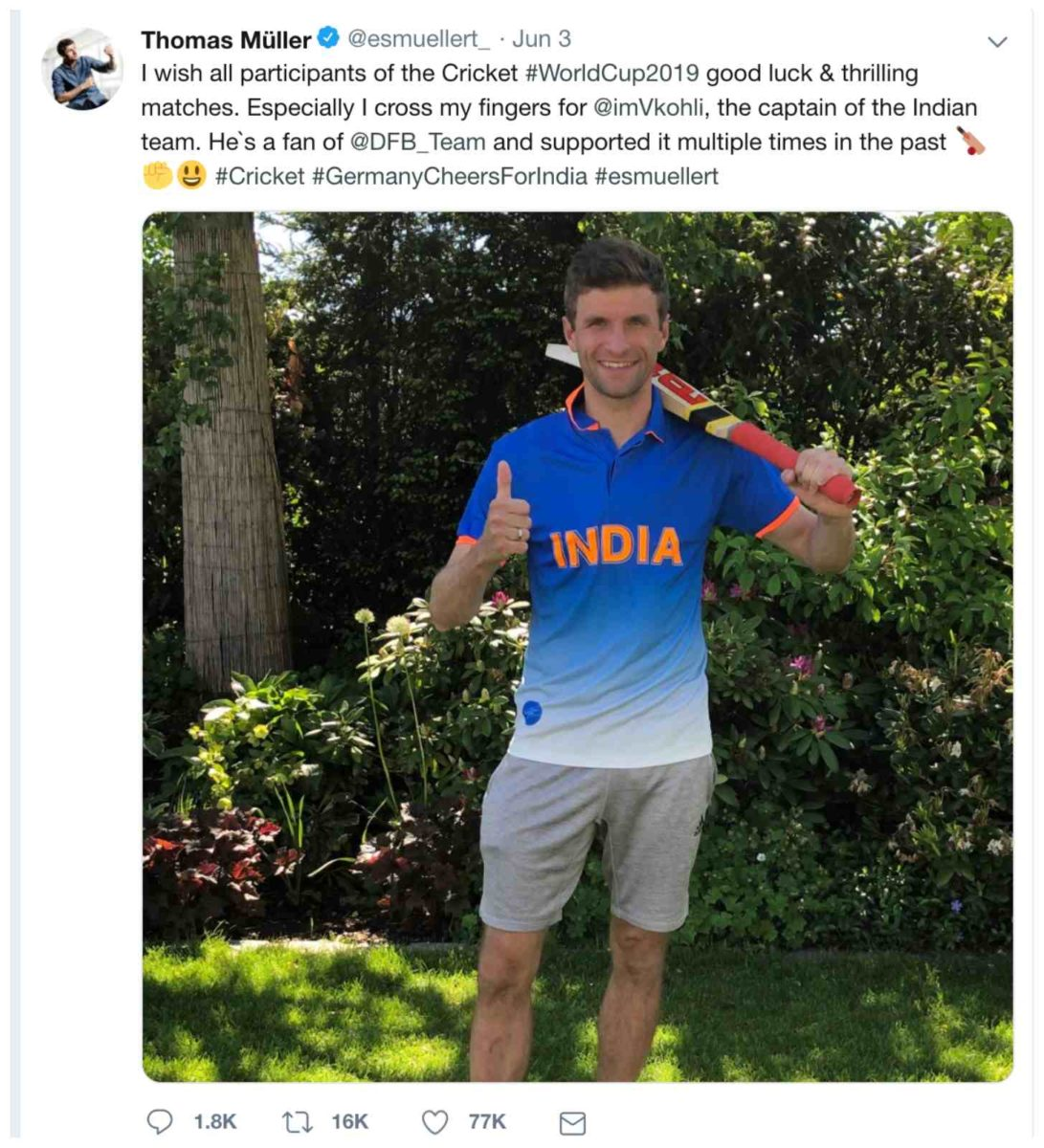 Germany cheers for india 2