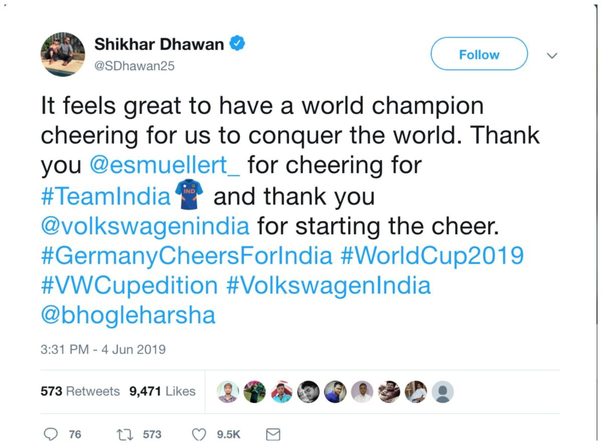 Germany cheers for india 3