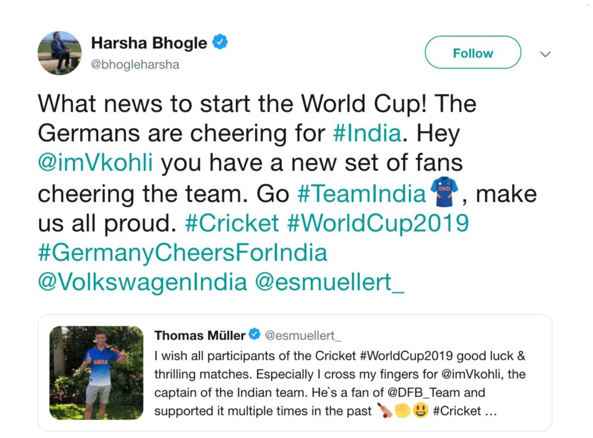 Germany cheers for india 4