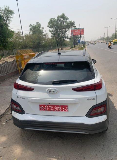 Hyundai Kona spotted in Delhi rear