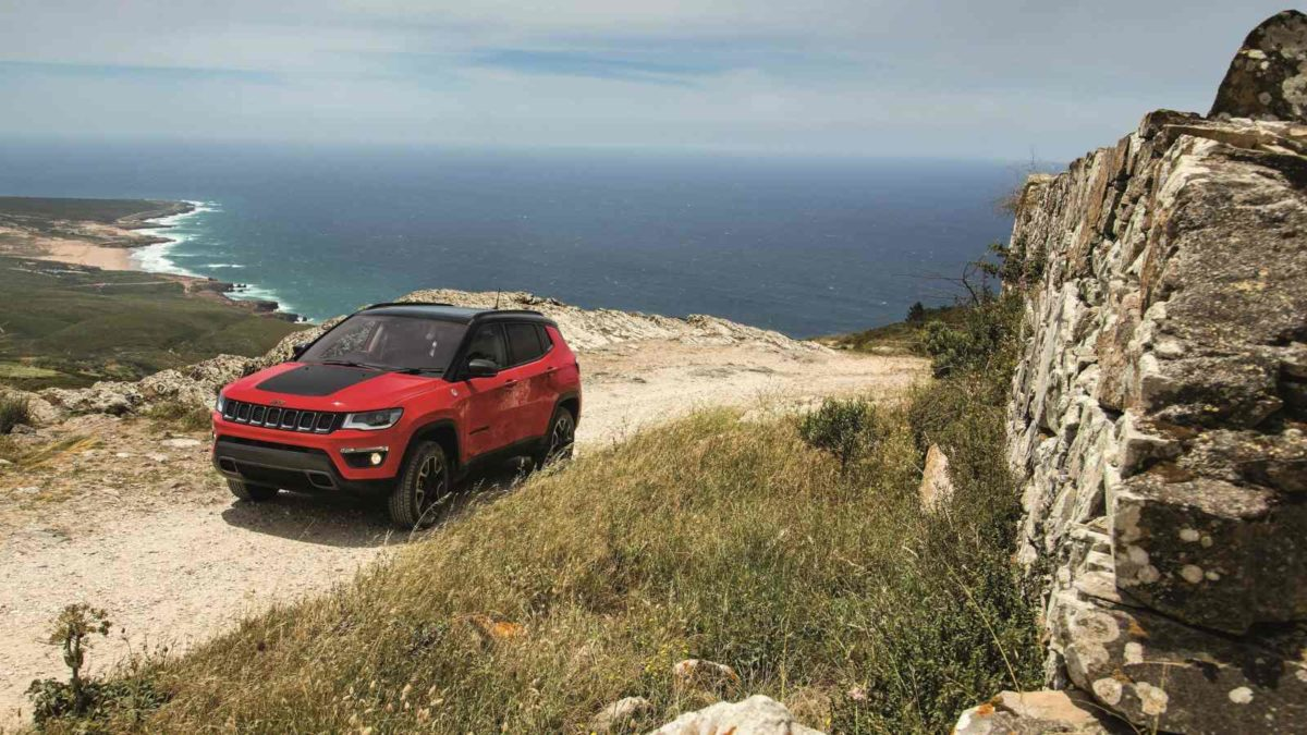 Jeep Compass Trailhawk front quarter off road