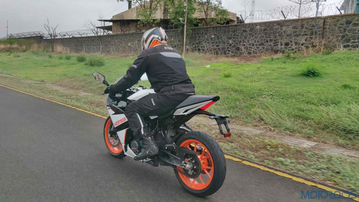 KTM RC 125 ABS Review rear section