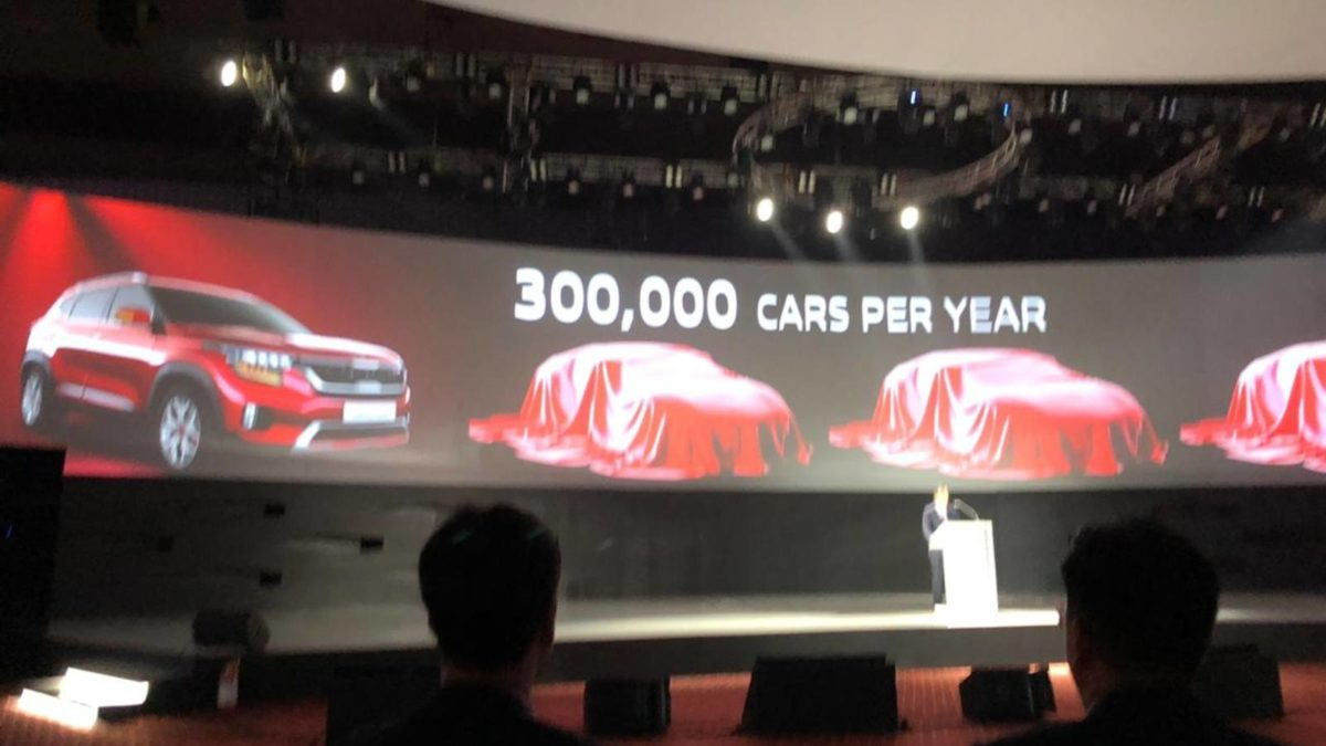 Kia Selto Global 3,00,000 cas per year