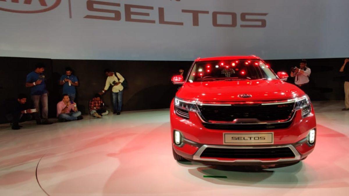 Kia Seltos Unveiled red front